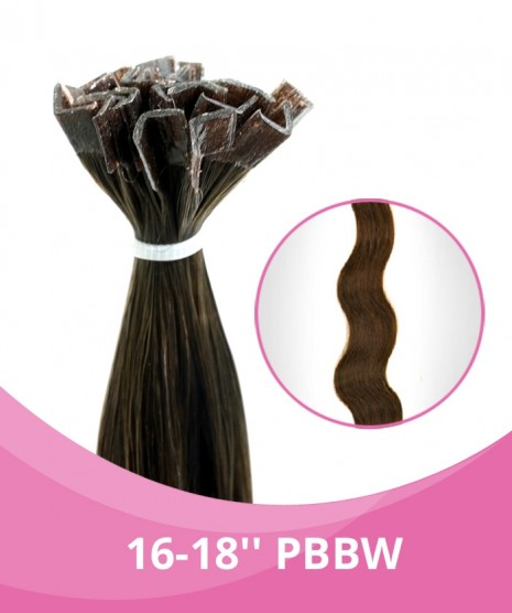 16''-18'' GBB Body Weave Fusion Hair Extensions - 25 Strands per pack