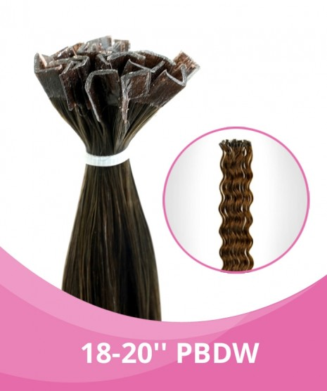 18''-20'' GBB Deep Weave (Curly) Fusion Hair Extensions - 25 Strands per pack