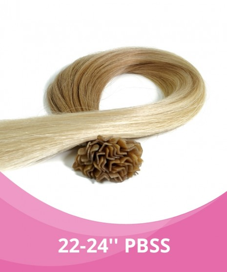 22''-24'' GBB Silky Straight Fusion Hair Extensions - 25 Strands per pack